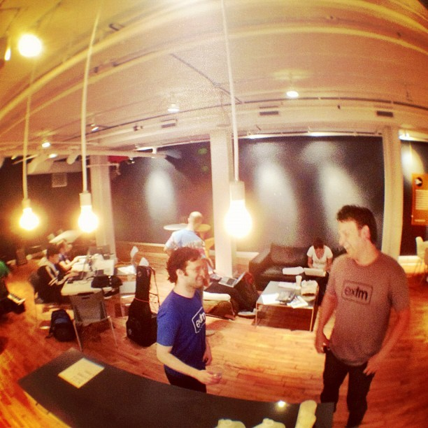 @__lucas & @jonathanmarmor preparing to hackathon (Taken with Instagram)