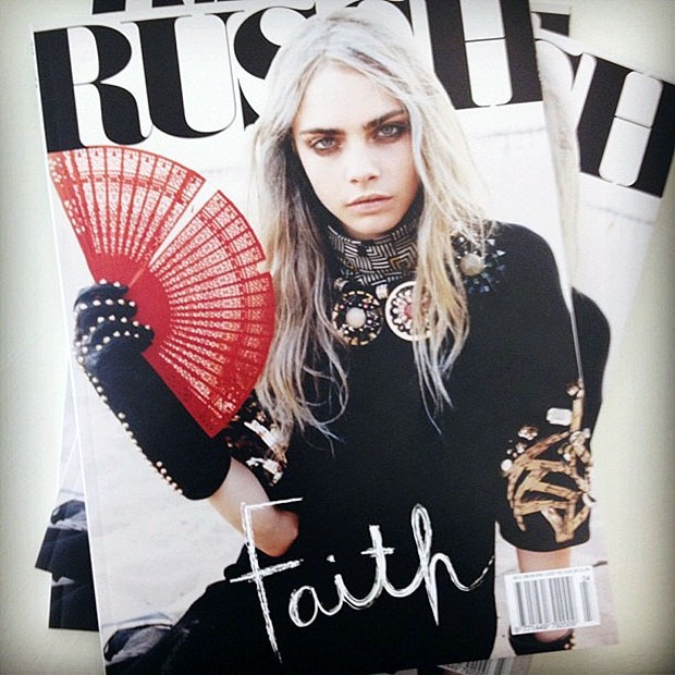 fraile:  fameandfreedom:  so excited for this issue to come out.  cara x russh aaaaahh!