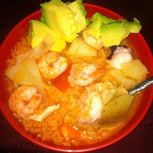 Seafood stew, compliments of my aunt.  (Taken with Instagram)