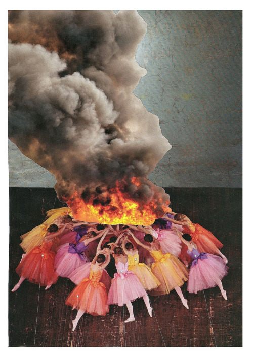 "thecollectivecollage:  ""Setting the Flame"" by Paperworker"