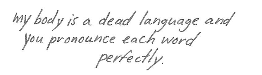 Sierra DeMulder,Unrequited Love Poem
