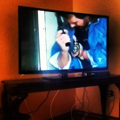 My new TV in my living room :D it's so big  (Taken with Instagram)