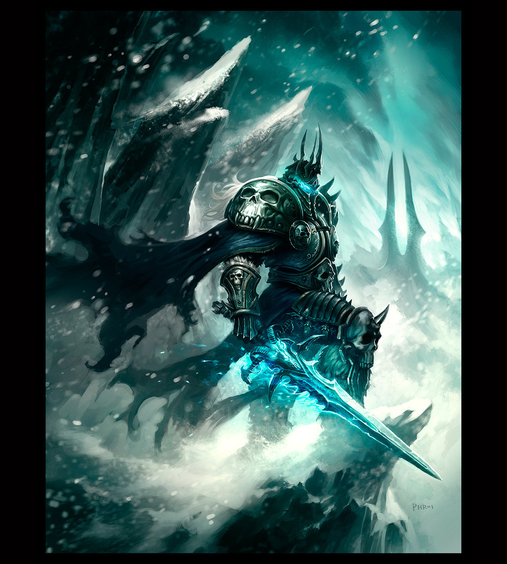 (via Portrait: The Lich King - 2D Digital, Concept art, Photoshop, Portrait)