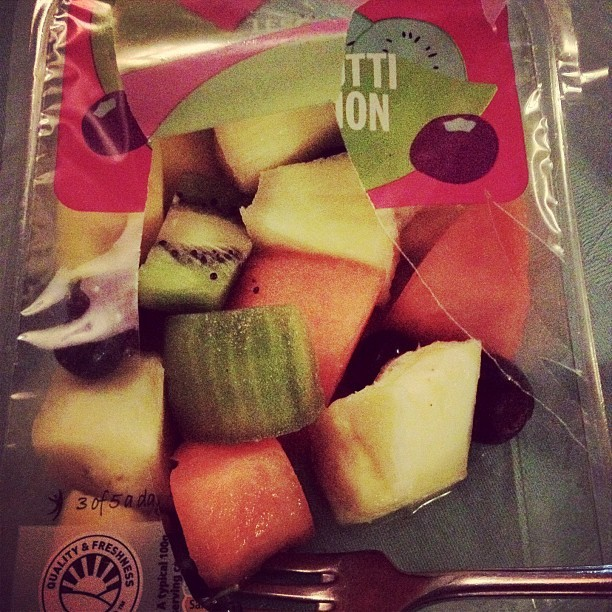 Dinner at work! #fruit #nom #food #summer #dinner  (Taken with Instagram)