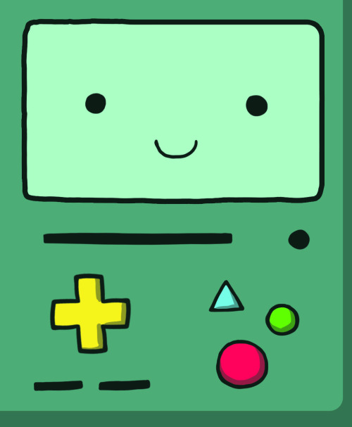 Beemo! From Adventure Time! He's the cutest. Buy these stickers from me at Edmonton'sAnimethon, Aug 11th & 12th!