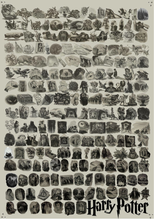 wishyou-werehere13:  every harry potter chapter art :)