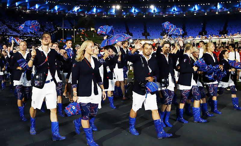 Team Czech Republic during 2012 London Olympics Opening Ceremony I'm still…about the rainboots! LMAO! I mean I guess it's different!