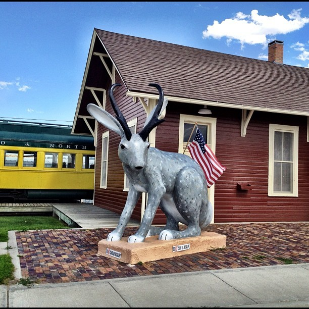 World's largest Jackalope (Taken with Instagram at Douglas Railroad Interpretive Center / Railroad Park)