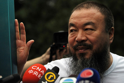 Ai Weiwei interviewed, but unable to come to New York for the premiere of Alison Klayman's documentary about him.