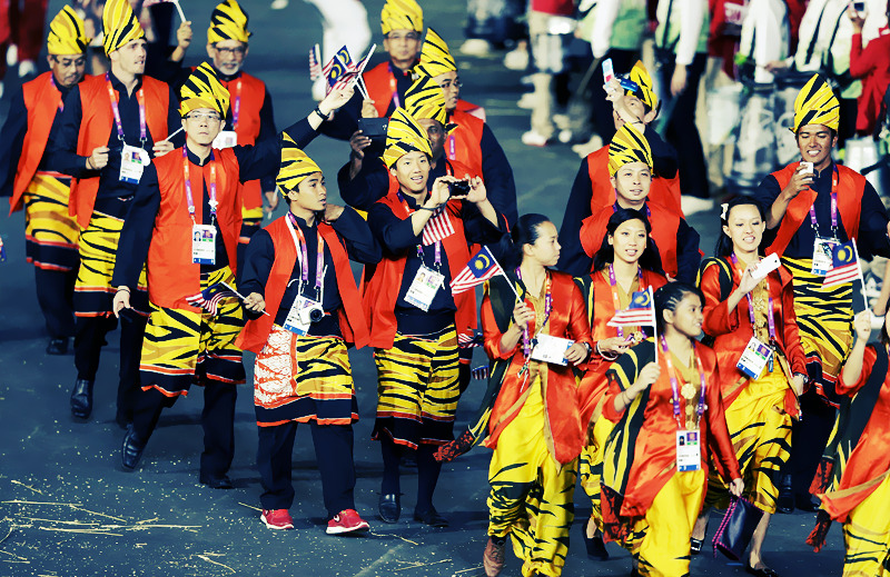 Team Malaysia at the 2012 London Olympics Opening Ceremony