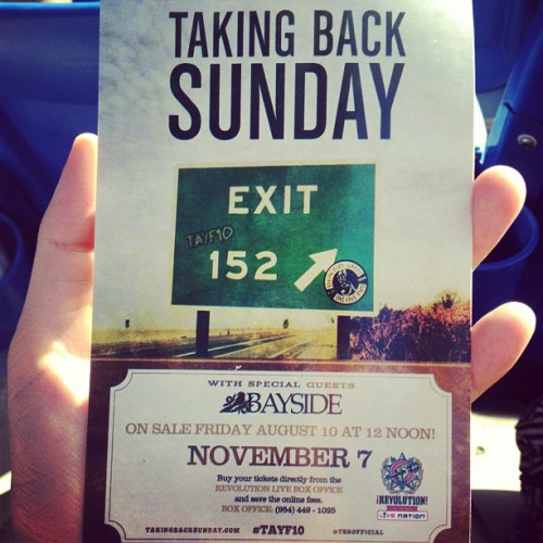 themegs:  TAYF10 news in Florida!! @TBSOfficial (Taken with Instagram at Cruzan Amphitheatre)  ummm megan…