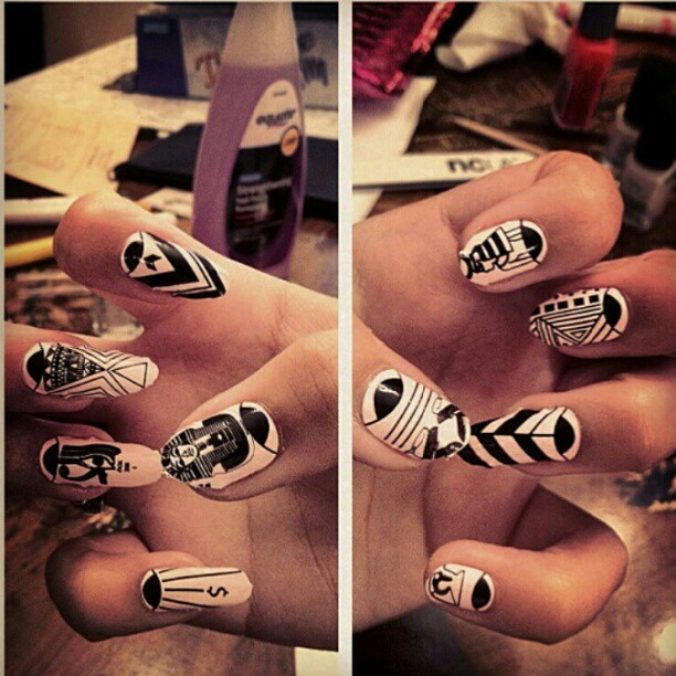 "M.E. X NCLA "" i see you"" nail wraps - pic jacked from @kaitlyn_amor (Taken with Instagram)"