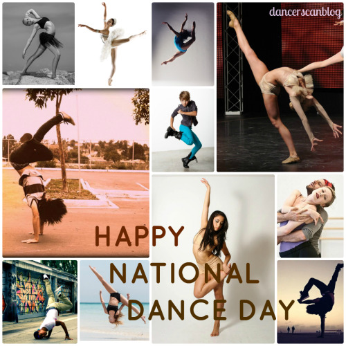dancerscanblog:  We might do different styles; ballet, hip hop, etc; but at the end of the day, we're all dancers. Happy National Dance Day! xx ~ dancercanblog