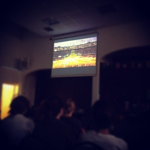 Watching the opening ceremonies from London!!! (Taken with Instagram)