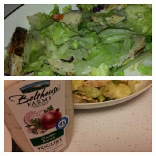 #dinner is #served #chickensalad #chicken #salad (Taken with Instagram)