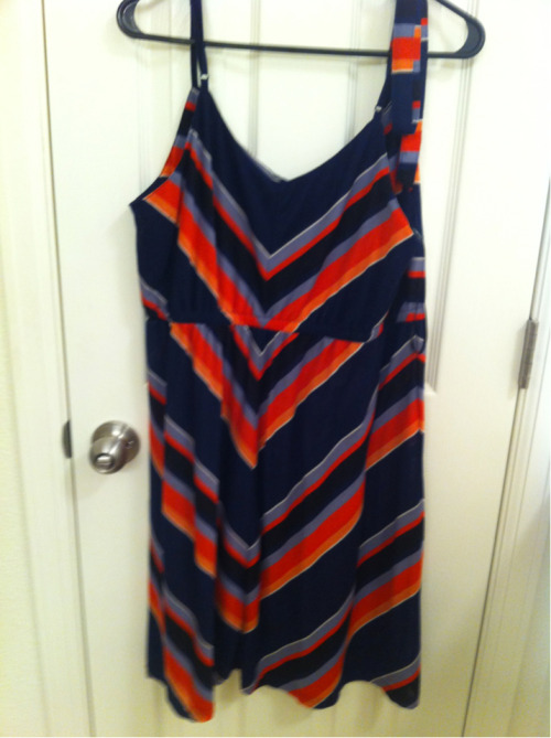 Another early summer dress, I wore this to the rehearsal dinner. Forever 21+. The thick strap on the right side is actually the tie belt that I just attached to the hanger so I wouldn't lose it. It is not asymmetrical.