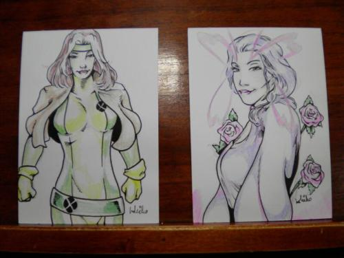 Two art cards I did for a customer at Rob Con. I really liked how these turned out!
