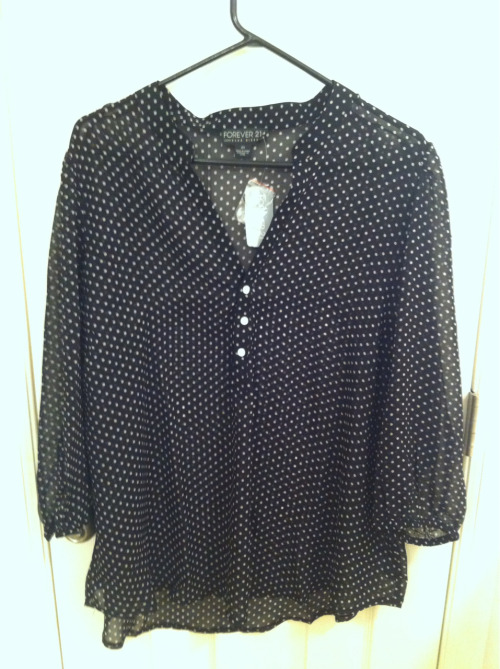 sheer polka dot blouse from Forever 21+