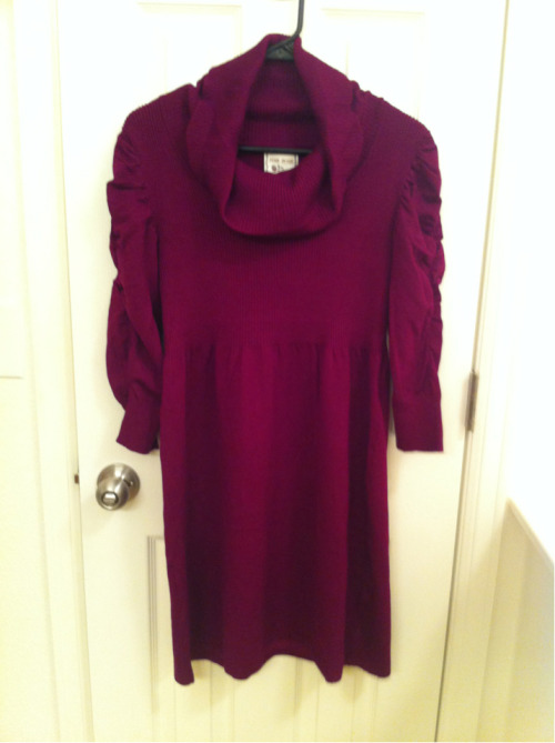 Cowl neck sweater dress, this was $15 from Ross. It's really cute, will be great in the fall.
