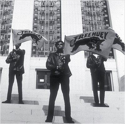 fuckyeahmarxismleninism:  Black Panthers Sam Napier, Glen Stafford and Landon Williams at a Free Huey rally at the Alameda County Courthouse, summer 1968. Photo via General Houston