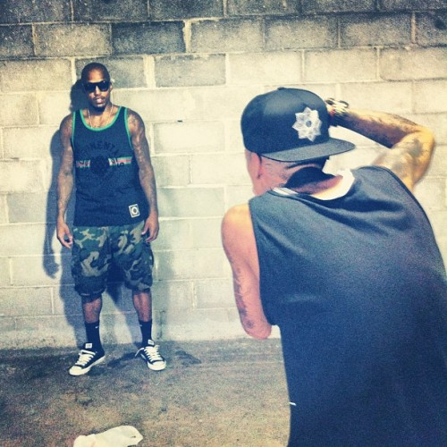 #Spring13 @cousinsbrand photoshoot. @tallento doing his #thugthizzle w @jtheodore1 #cousinsvintage (Taken with Instagram)