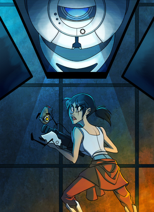 michellesketches:  Some Portal Love! click for my DA page if anyone's interested.