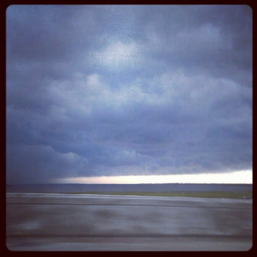 I think the rain followed me home… (Taken with Instagram at Robert B. Scarborough Bridge)