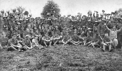 Members of Wiltshire Regiment after the Battle of Thiepval Date 	c. 1916-1918