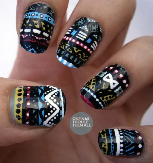 Day 16: Tribal Print. I love doing tribal print but I think I may have got a bit carried away…