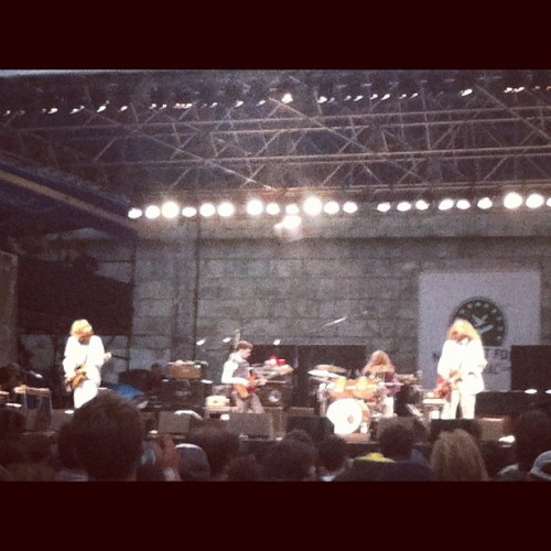 my morning jacket in the rainnnn (Taken with Instagram at Newport Folk Festival)