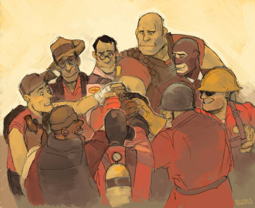 fuckyeahtf2:  Team Spirit by Barukurii