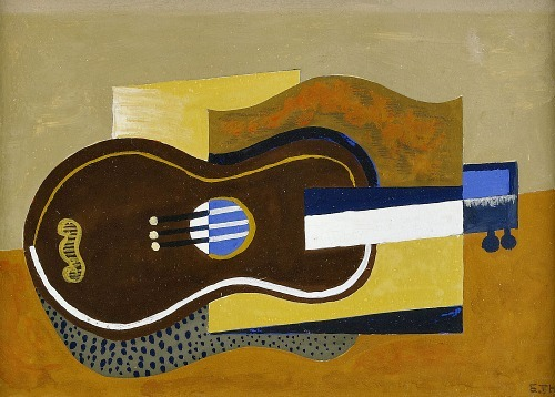 Esaias Thorén Composition with Guitar 20th century