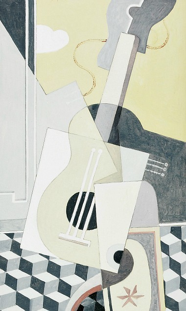 Axel Olson Composition with Guitar 1930