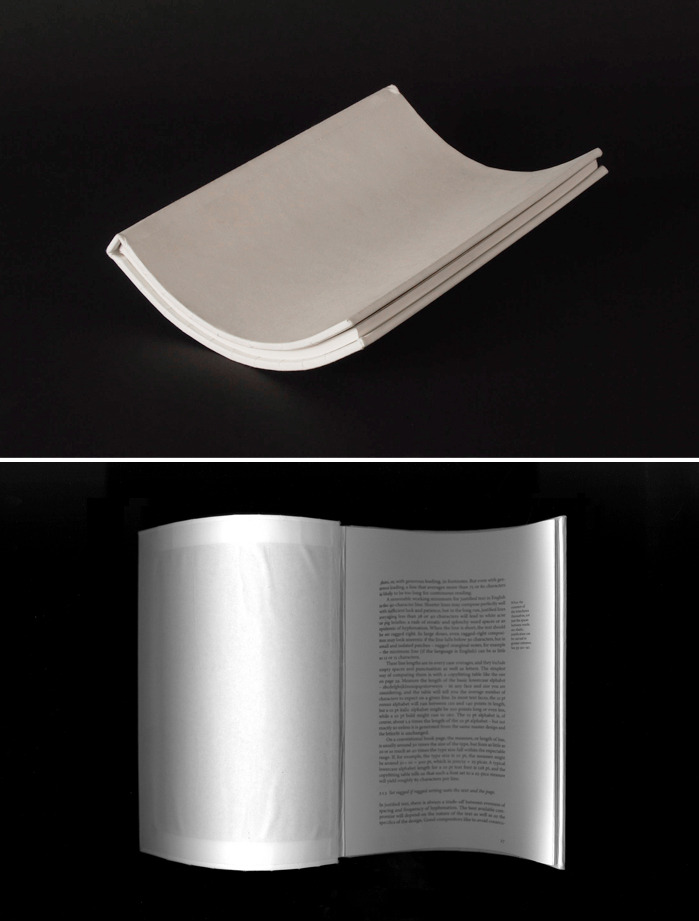 "Jasmine Raznahan, Unscannable Books. ""A structural exploration into book forms, created as a response to the destructive method of book scanning advocated by Google Books."""