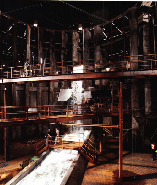 The massive set for Bane's underground lair, at Cardington.