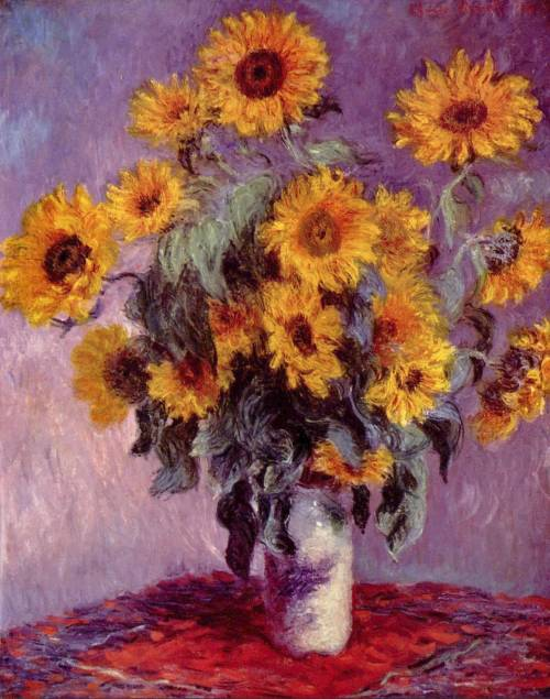 cordisre:  Sunflowers (1881) Claude Monet