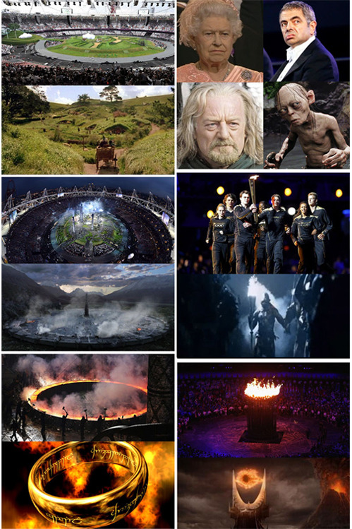 tastefullyoffensive:  Olympics Opening Ceremony = Lord of the Rings[via]