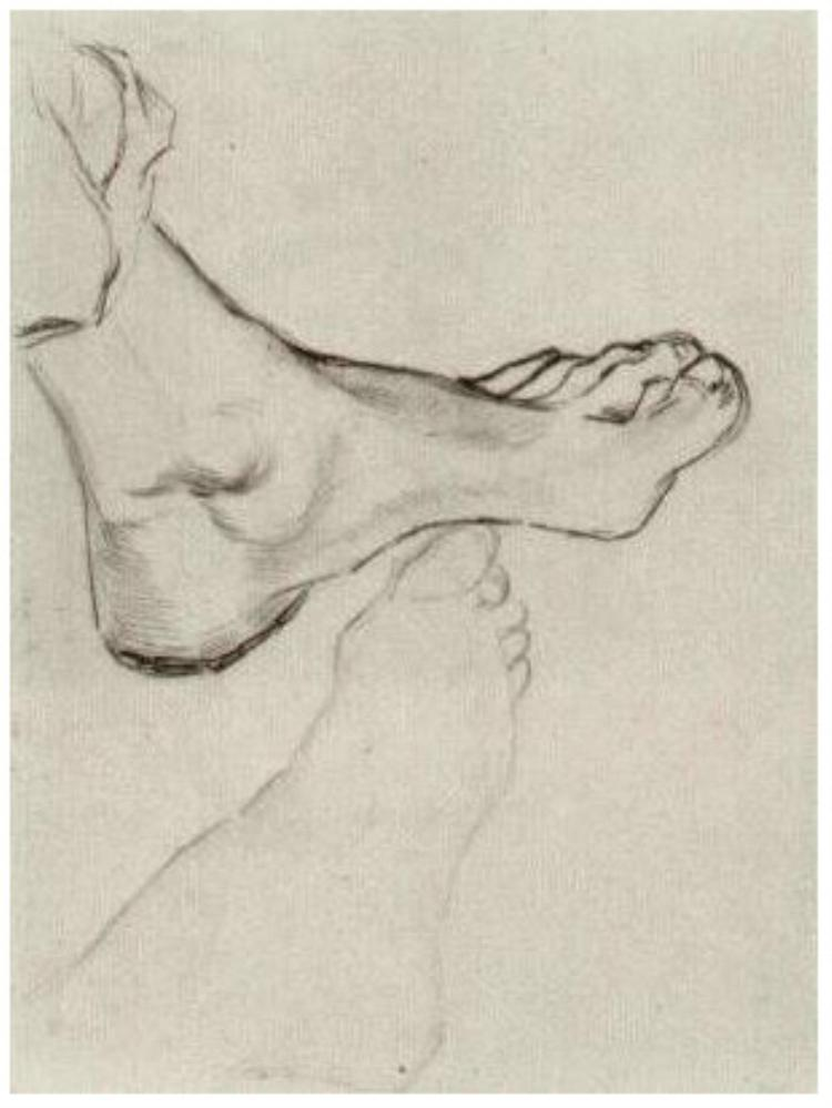 Feet (1885) by Vincent van Gogh