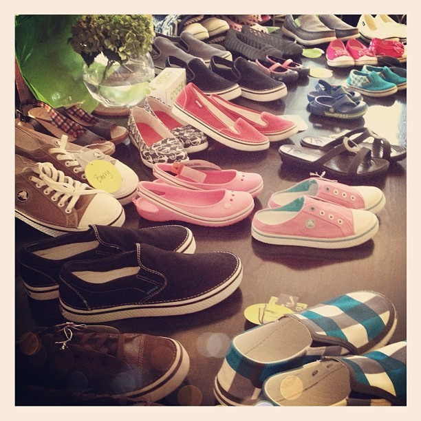It's a @crocs extravaganza!!!  (Taken with Instagram)