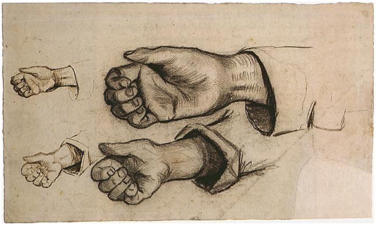 Four Hands (1884 - 85) by Vincent van Gogh