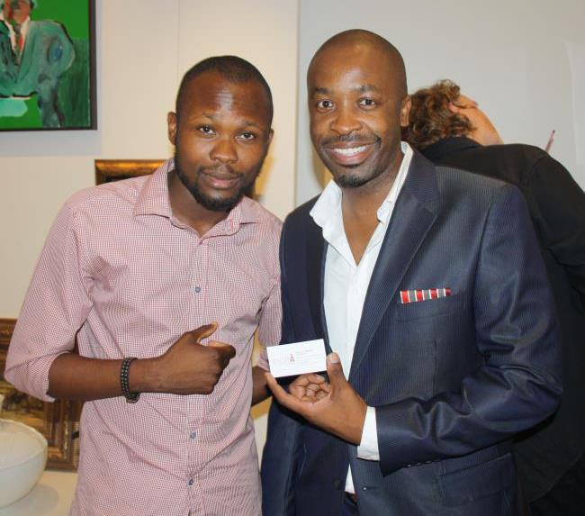 A pose with sa's top dj & entrepreneur DJ SBU