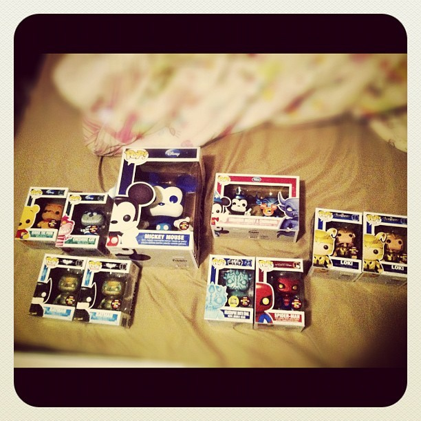 #SDCC2012 #Funkos came today for our shop. #Thedarkknightrises #goldenloki #loki #TDKR #Darthmaul #amazingspiderman #sorcerormickey #chernabog #winniethepooh #bluemickey #popwars #funkofamily #follow4funko #comiccon #comiccon2012 #limitededition #rare #soldout #poptoys #funkopop #avengers #marvel #disney #starwars  (Taken with Instagram)