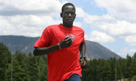 "South #Sudanese refugee to run #Olympic marathon as an independent US-based Guor Marial has won the right to compete as a stateless athlete after refusing to compete under Sudan's flag. A refugee from Sudan's civil war has won his battle to compete in the Olympic marathon as an independent runner without a country. US-based Guor Marial had turned down the chance to run for Sudan, could not represent America because he is not a full citizen and was unable to wear the colours of his first choice, South Sudan, because it is not sending a team to London. But the 28-year-old's late plea to enter as a stateless athlete under the Olympic flag has now been granted by the International Olympic Committee (IOC). Marial was preparing for a training session over the weekend when he got the career-changing call. ""I was getting ready to go for a run,"" Marial told the Associated Press from his home in Flagstaff, Arizona. ""Wow. This is so exciting. It's hard to describe. I'm speechless."" Marial lost 28 family members to violence or disease during the civil war that left Sudan devastated and eventually led to the south breaking away last year. He felt that representing Sudan would betray their memory, but competing in the Games this way will honour them. He told Reuters: ""For me, it means a lot to glorify the people who died for their freedom and people who lost their lives, including 28 members of my family and relatives. Their spirit is what allows me to get up every single day, put on my shoes and train to honour them."" He has bleak childhood memories of the conflict. One night, soldiers raided his home, smashing his jaw with a rifle and knocking him unconscious. At the age of eight, he was forced to escape a labour camp after being kidnapped by gunmen. He hid in a cave until dawn, then followed the path of the sun. ""I used to hate running,"" he told AP. ""I was running back home to save my life."" Marial lived in Egypt before reaching the US 12 years ago. He showed promise as a cross-country runner at Iowa State University. Last October he beat the Olympic marathon qualification time and in June improved his personal best to two hours, 12 minutes and 55 seconds. South Sudan has been torn by economic collapse, tribal violence and a brewing conflict with its northern neighbour since becoming independent little more than a year ago. Establishing an Olympic body is hardly a priority and so it won't be taking part in the Games. (read more)"