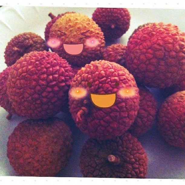 Eating #lychee ^_^✌ (Taken with Instagram)