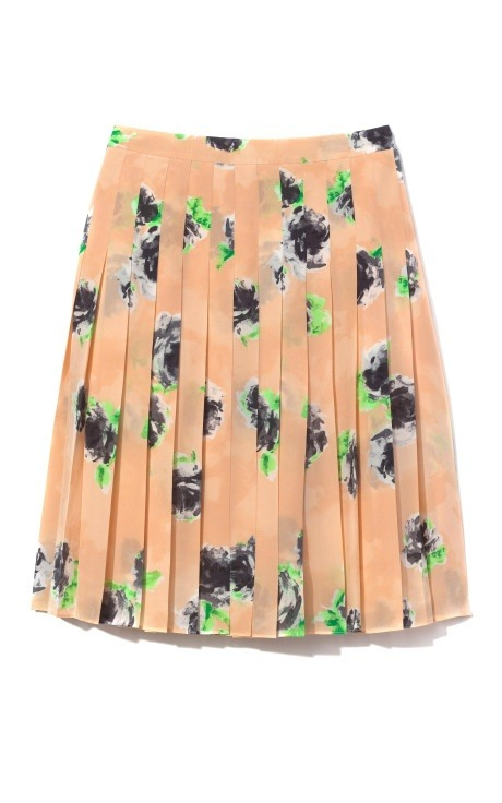 Moschino Cheap & Chic Roses Printed Skirt