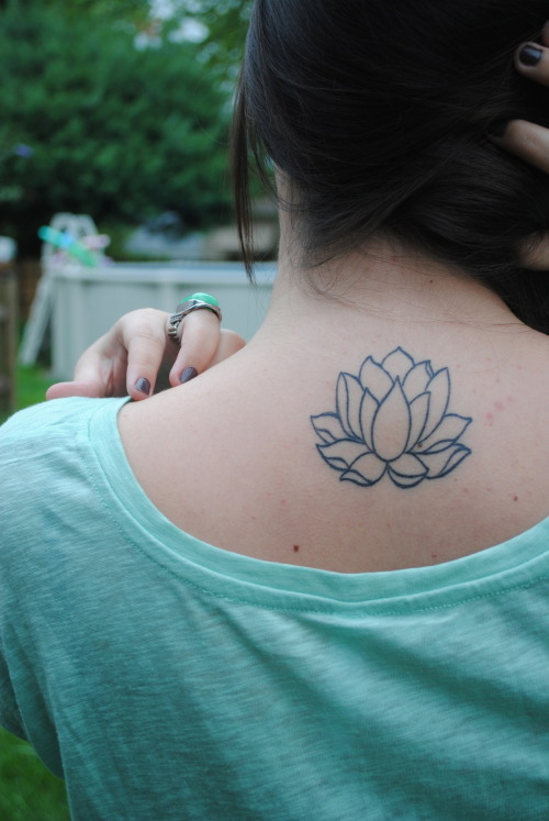 this is my lotus flower tattoo, got it done at dark star in massachusetts and i couldn't be more happy with how it came out.