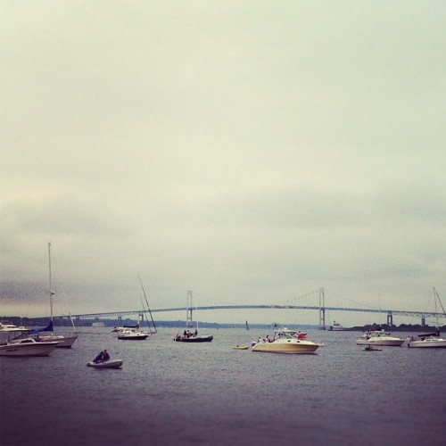 floatin and a-listenin. #newportfolk  (Taken with Instagram at Newport Folk Festival)