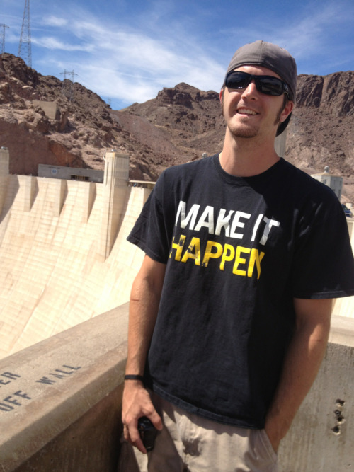 Today we got up and packed up. We headed east! Ended up at the Hoover Dam!  (We also spent time at the very rocky beach of Lake Mead)  Grand Canyon here we come! Mule riding tomorrow!