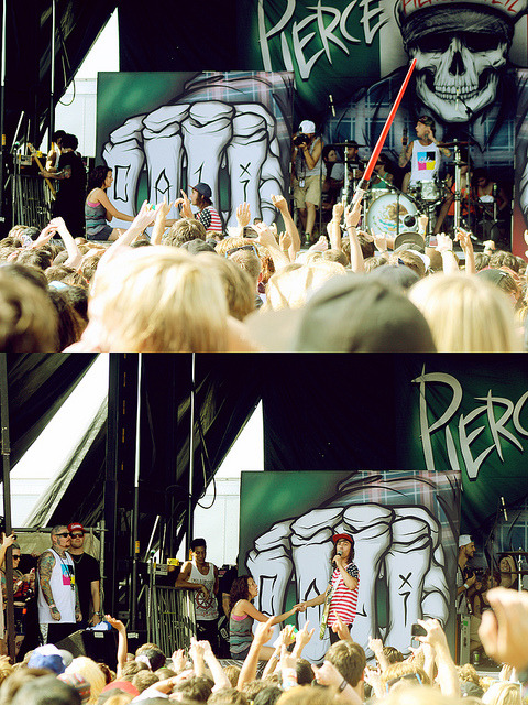 concertjunkies:  Warped Tour 2012: Pierce the Veil by sydneygraceh on Flickr. OH MY GOD I WAS THERE AND CRIED WHEN THE GIRL WAS CRYING AND SINGING ALONG!