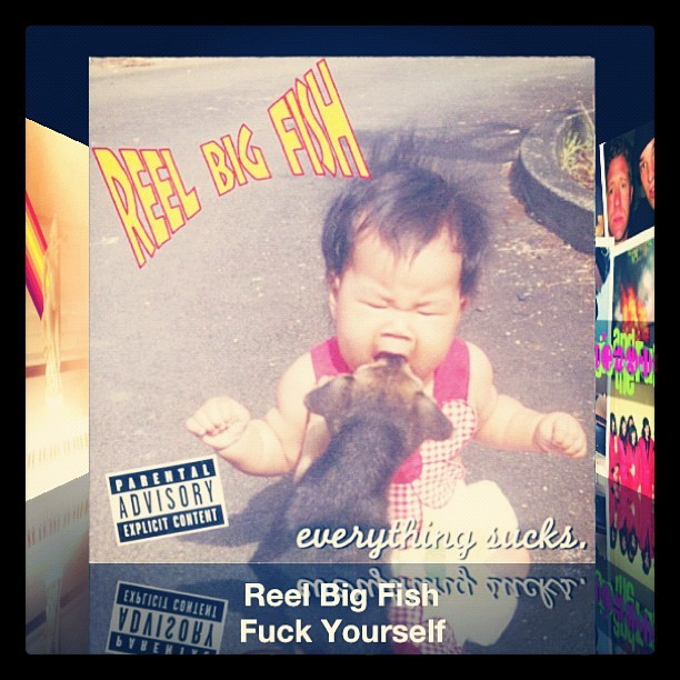 #nowplaying #reelbigfish #gofuckyourself #ska I've been in the car for too long.  (Taken with Instagram)